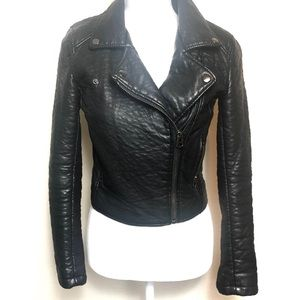 Topshop Black Faux Leather Jacket